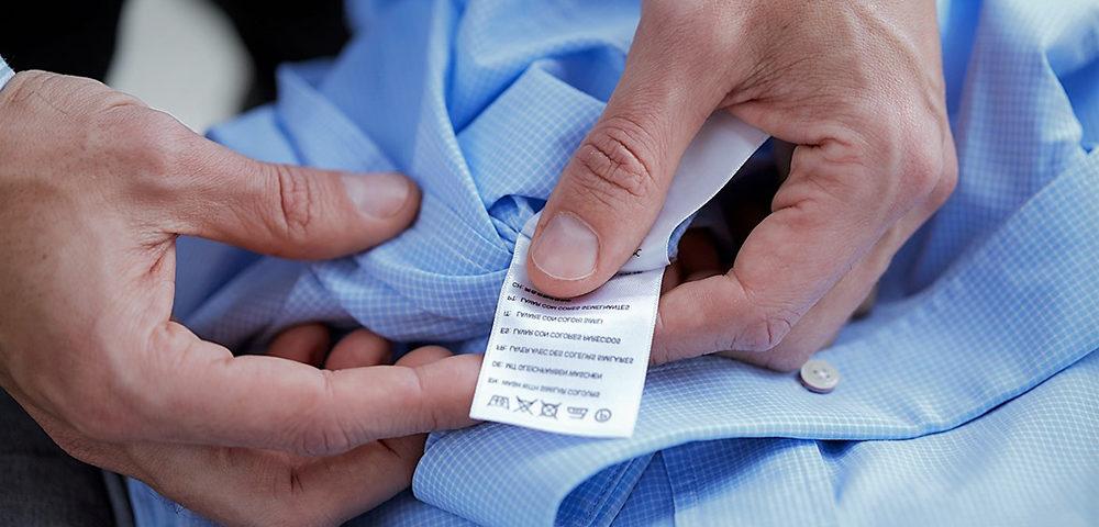 étiquettes pour textiles