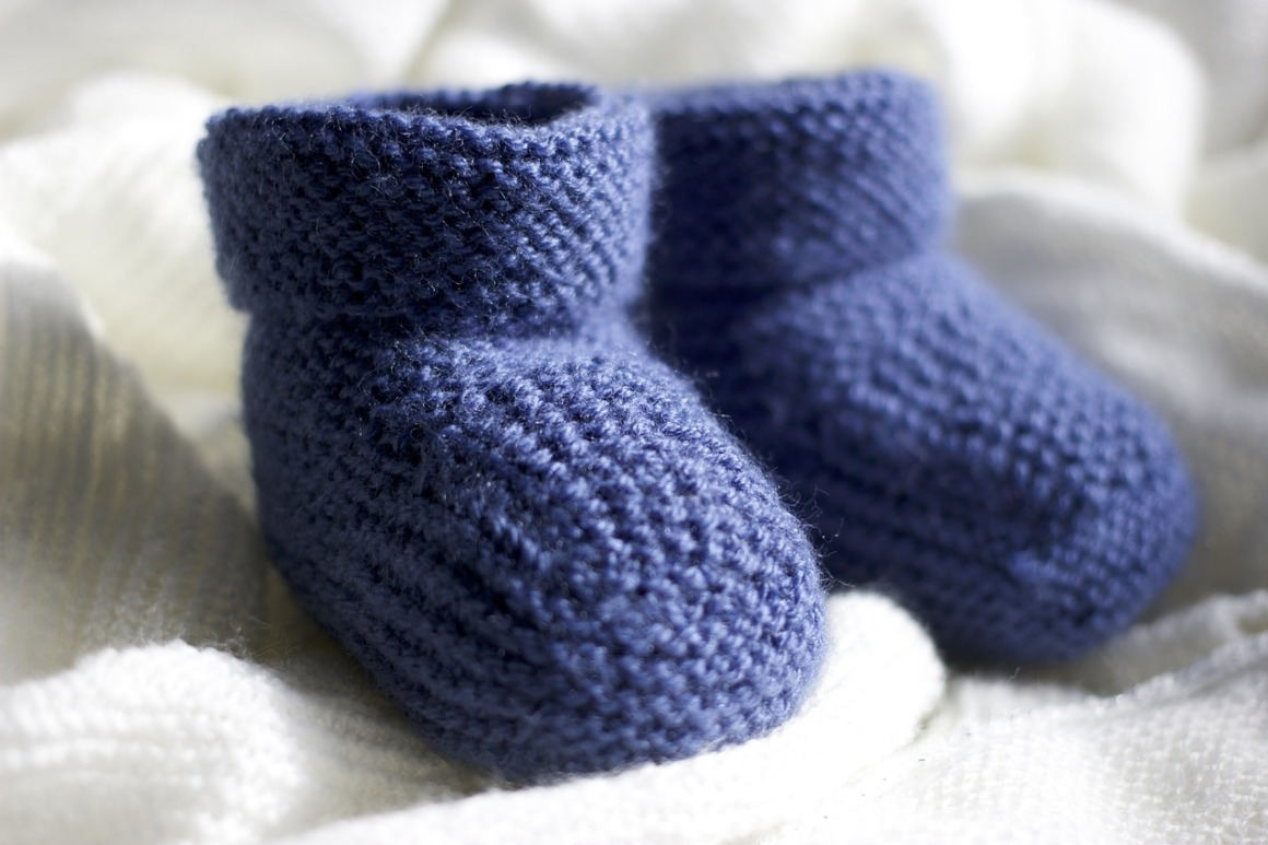 Chausson bébé crochet