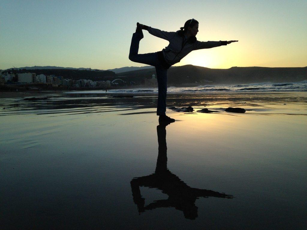 legging et séance de yoga