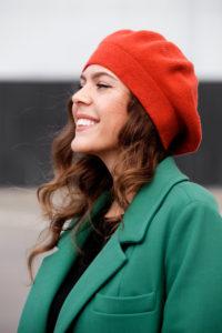 manteau vert pour femme